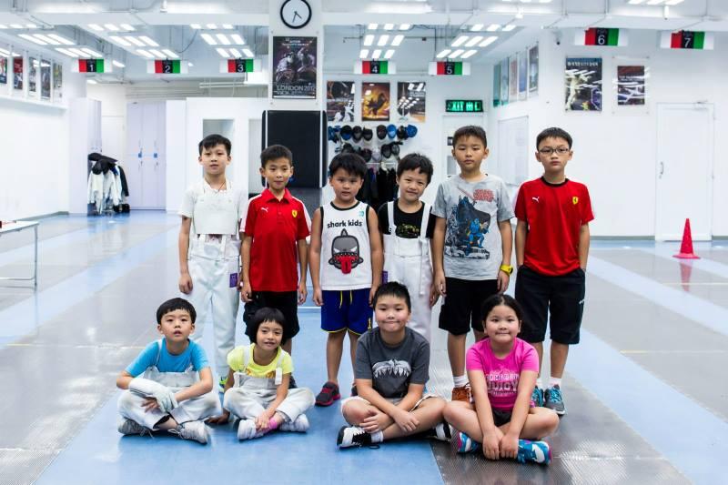 Children fencing
